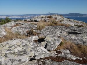 panorámica desde o monte do Castro de Hio