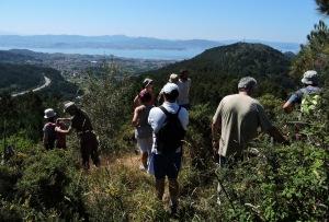 roteiro pola protección da serra da Madalena-vistas panorámicas da ría de Vigo desde o monte Liboreiro