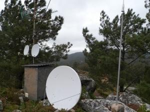 antenas de TV no Monte do Castro