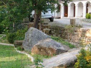 restos do petróglifo de Gondarán