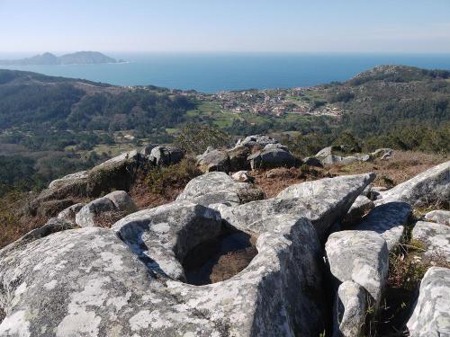 panorámica desde Outeiro Batente (Montes do Hio)